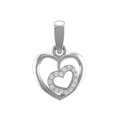 Nested Heart Crystals Pendant