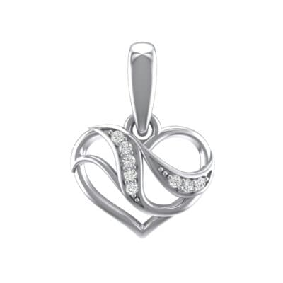 Flowing Heart Crystals Pendant