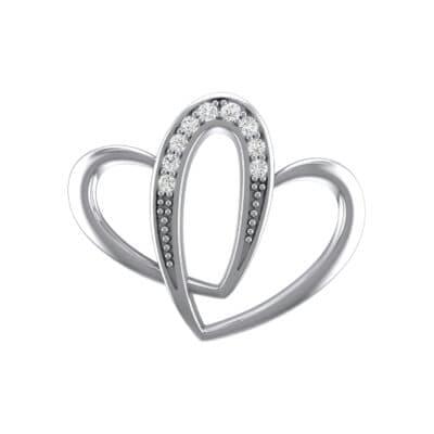 Interlocking Heart Crystals Pendant (0.09 Carat)