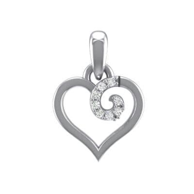 Swirl Heart Crystals Pendant