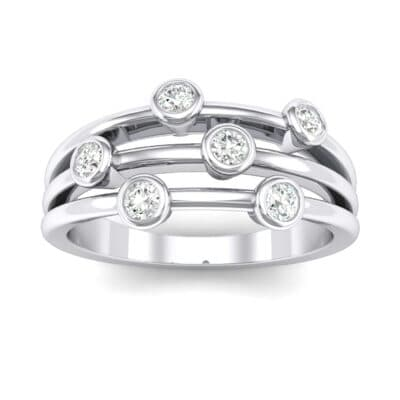 Bezel-Set Trio Crystals Ring