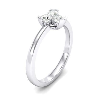 Three-Stone Flower Crystals Engagement Ring