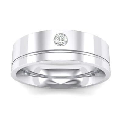 Single Round-Cut Crystals Ring