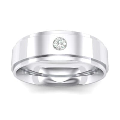 Stepped Edge Single Round-Cut Crystals Ring