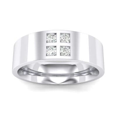 Square Four-Stone Crystals Ring