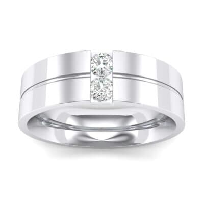 Two-Stone Vertical Channel Crystals Ring