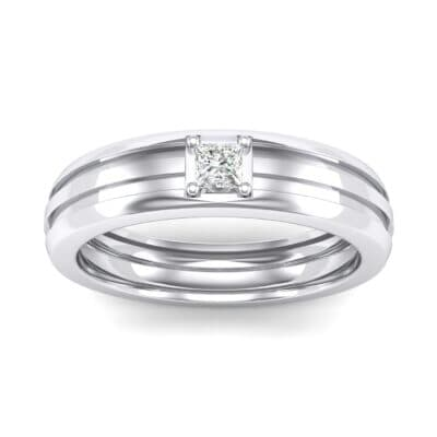 Single Line Round-Cut Crystals Ring