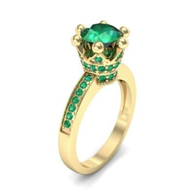 Six-Prong Coronet Emerald Engagement Ring (0.78 CTW)