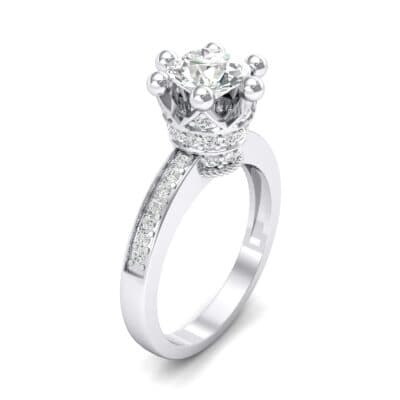 Six-Prong Coronet Crystal Engagement Ring (0.78 CTW)