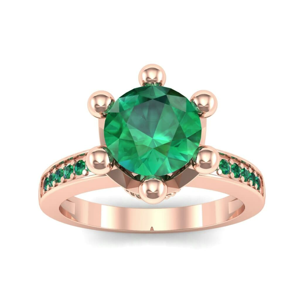 Ij001 Render 1 01 Camera2 Stone 1 Emerald 0 Floor 0 Metal 2 Rose Gold 0 Emitter Aqua Light 0