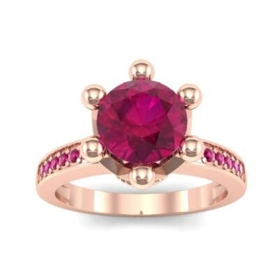Six-Prong Coronet Ruby Engagement Ring (0.78 CTW) Top Dynamic View
