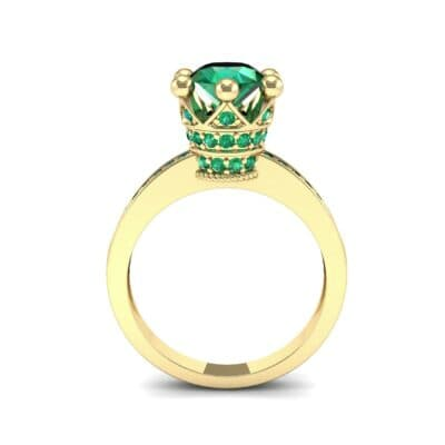 Six-Prong Coronet Emerald Engagement Ring (0.78 CTW) Side View