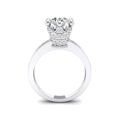 Six-Prong Coronet Crystal Engagement Ring (0.78 CTW) Side View