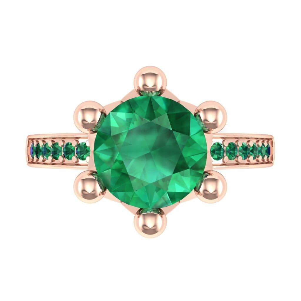 Ij001 Render 1 01 Camera4 Stone 1 Emerald 0 Floor 0 Metal 2 Rose Gold 0 Emitter Aqua Light 0