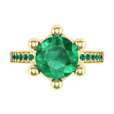 Six-Prong Coronet Emerald Engagement Ring (0.78 CTW) Top Flat View