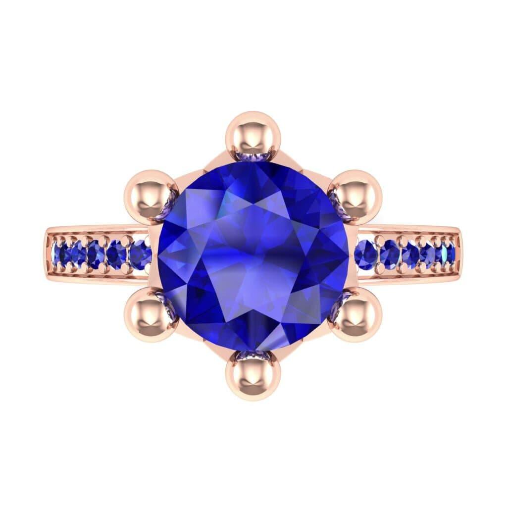 Ij001 Render 1 01 Camera4 Stone 3 Blue Sapphire 0 Floor 0 Metal 2 Rose Gold 0 Emitter Aqua Light 0