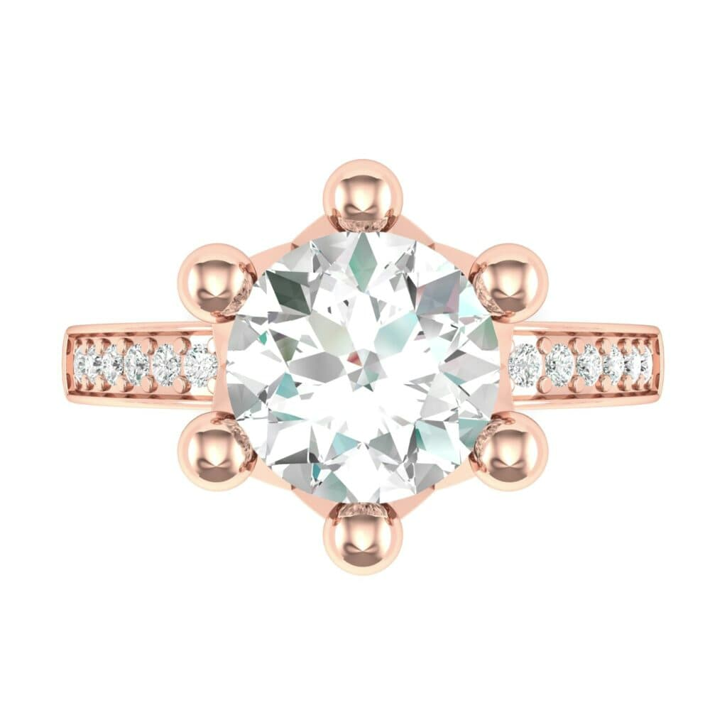 Ij001 Render 1 01 Camera4 Stone 4 Diamond 0 Floor 0 Metal 2 Rose Gold 0 Emitter Aqua Light 0