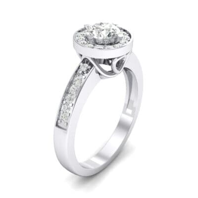 Surprise Heart Halo Crystal Engagement Ring (0.76 CTW)