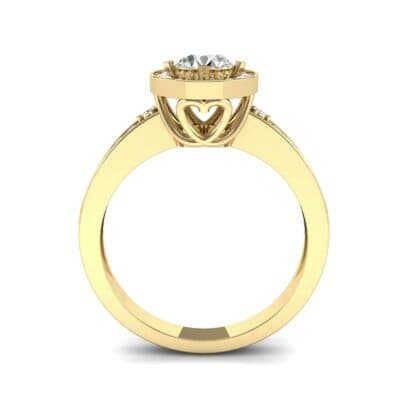 Surprise Heart Halo Diamond Engagement Ring (0.76 CTW) Side View