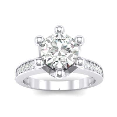 Six-Prong Coronet Crystal Engagement Ring (0.78 Carat)