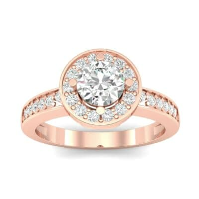 Surprise Heart Halo Diamond Engagement Ring (0.76 CTW) Top Dynamic View