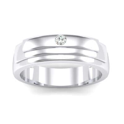 Dais Single Stone Crystal Ring (0.03 Carat)