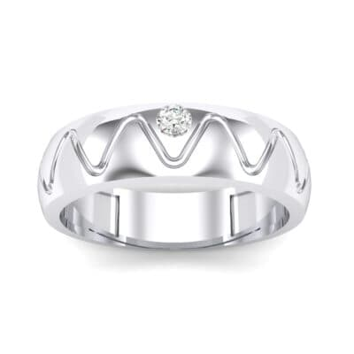 Wide Etch Crystal Ring (0.04 Carat)