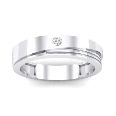 Asymmetrical Avenue Crystal Ring (0.03 Carat)