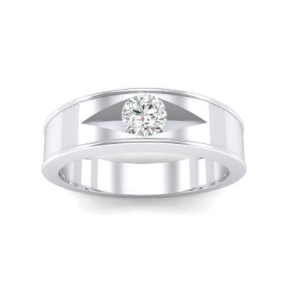Sunken Solitaire Crystal Ring (0.22 Carat)