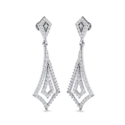 Nested Kite Crystal Earrings (1.34 Carat)