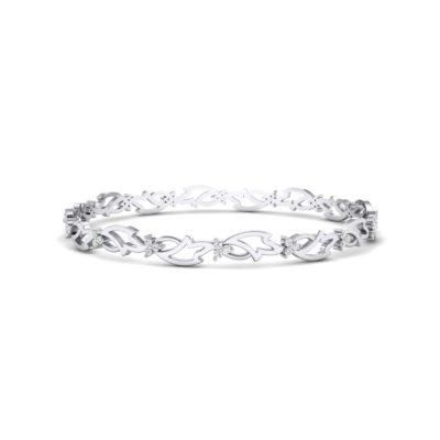 Jeweled Ivy Crystal Bangle (0.78 Carat)