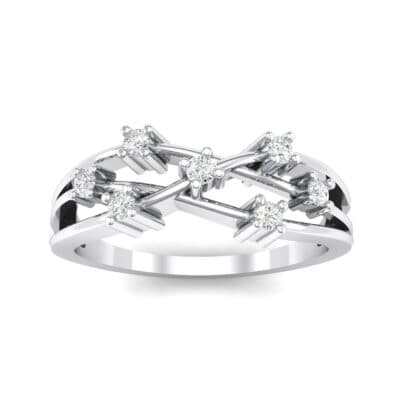 Barbwire Crystal Ring (0.12 Carat)