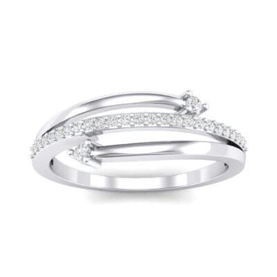 Pave Split Crystal Ring (0.16 Carat)