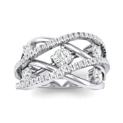 Star Jasmine Crystal Ring (0.89 Carat)
