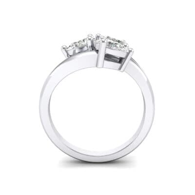 Open Band Pear-Shape Crystal Ring (0 CTW) Side View