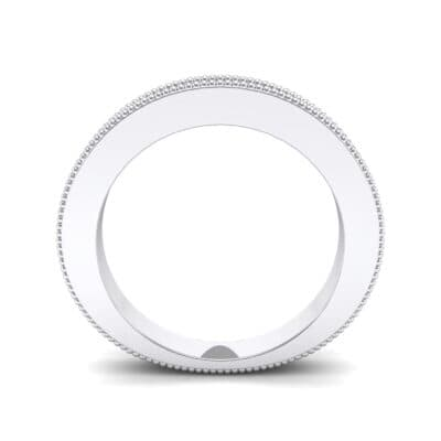 Flat Milgrain Ring (0 CTW) Side View