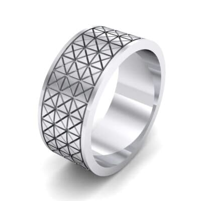 Wide Etched X Ring (0 CTW)
