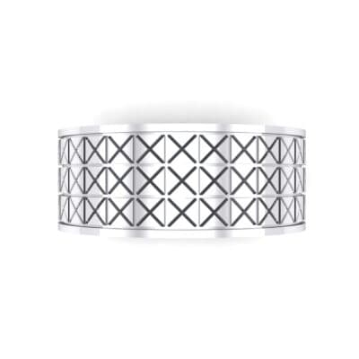 Wide Etched X Ring (0 CTW) Top Flat View