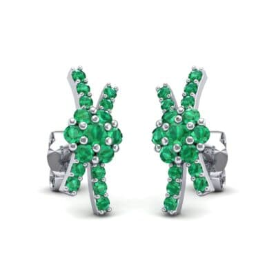 Ribbon Emerald Earrings (0.45 CTW) Perspective View