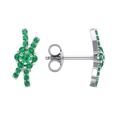 Ribbon Emerald Earrings (0.45 CTW) Top Dynamic View