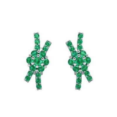 Ribbon Emerald Earrings (0.45 CTW) Side View