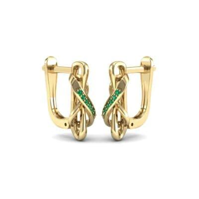 Infinity Twist Emerald Earrings (0.12 CTW) Perspective View
