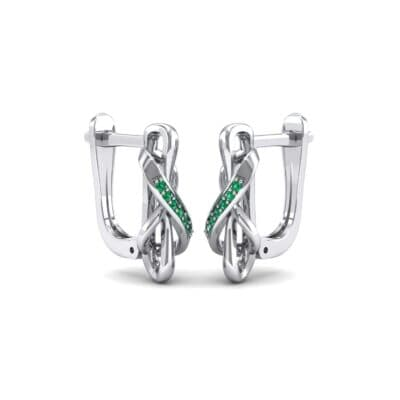 Infinity Twist Emerald Earrings (0.12 CTW) Perspective View