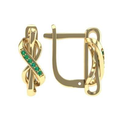 Infinity Twist Emerald Earrings (0.12 CTW) Top Dynamic View