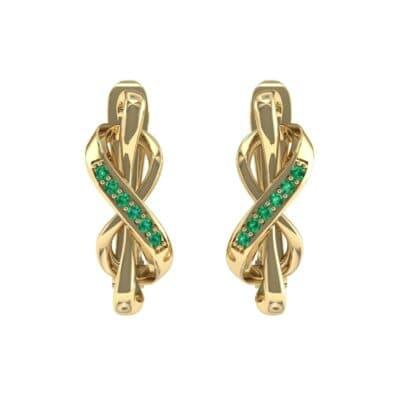 Infinity Twist Emerald Earrings (0.12 CTW) Side View
