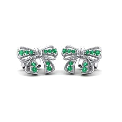 Bow Emerald Earrings (0.25 CTW) Perspective View