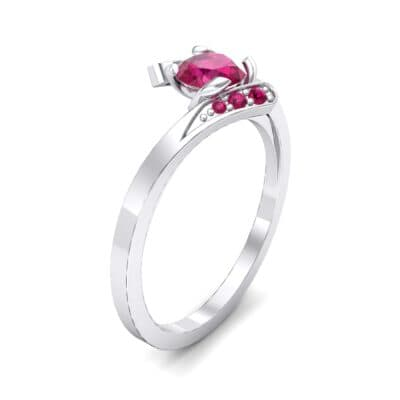 Cradle Illusion Bypass Ruby Engagement Ring (0.545 CTW)