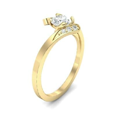Cradle Illusion Bypass Diamond Engagement Ring (0.545 CTW)