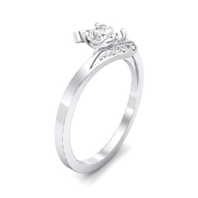 Cradle Illusion Bypass Crystal Engagement Ring (0.545 CTW)