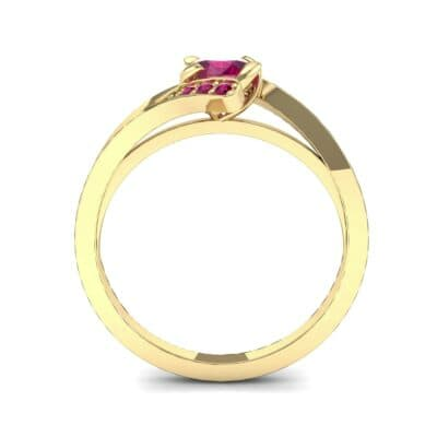 Cradle Illusion Bypass Ruby Engagement Ring (0.545 CTW) Side View